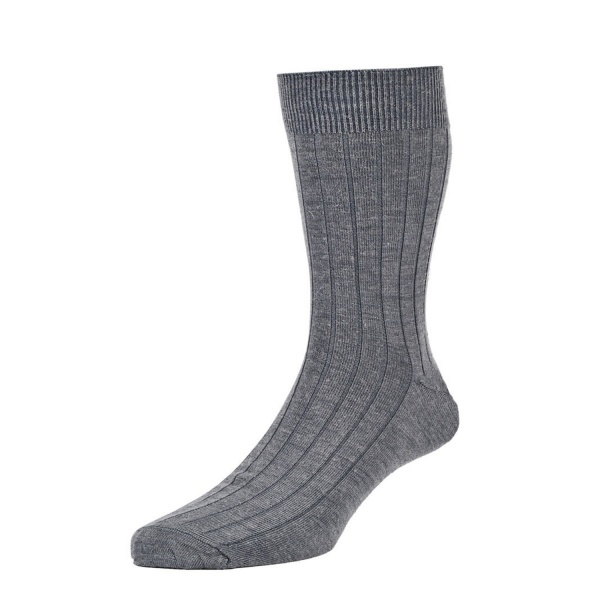 HJ160 Executive™ Broad Rib Botany Wool Rich Mid Grey