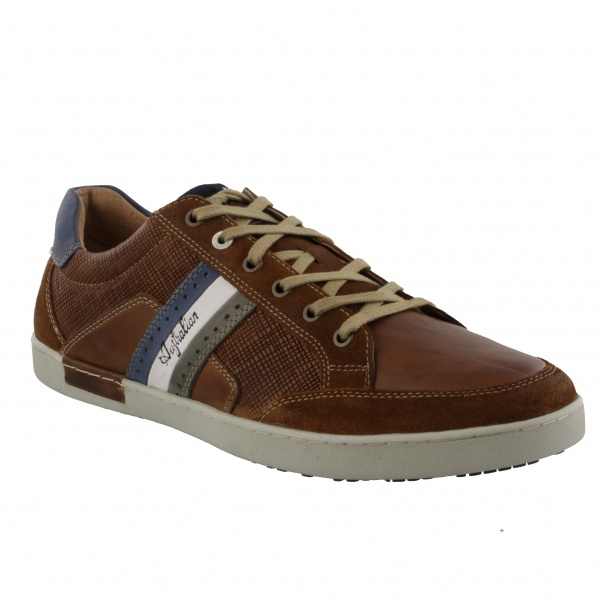 Australian Footwear Lombardo Leather Tan/Combi