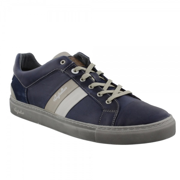 Australian Footwear Darryl Leather Blue-Light Grey