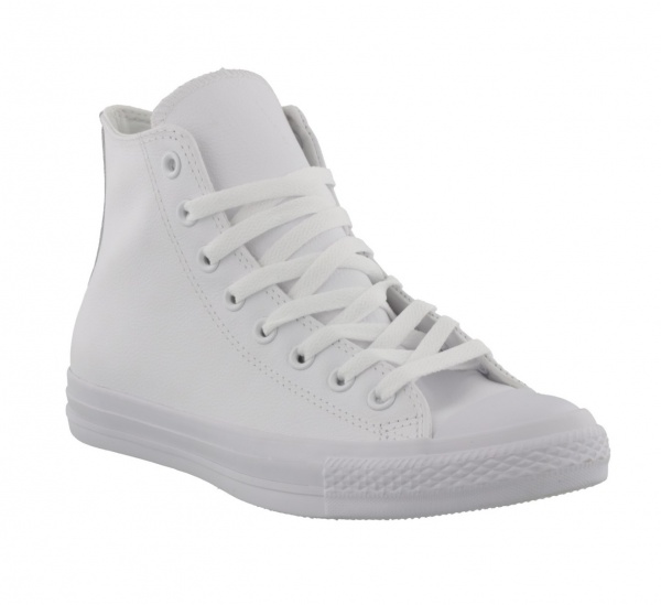 Converse Hi All Star Leather White Mono