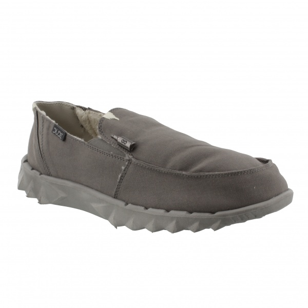 HEY DUDE FUR LINED FARTY CHALET DARK GREY