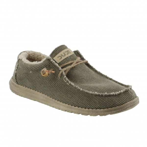 HEY DUDE FUR LINED WALLY CHALET KHAKI