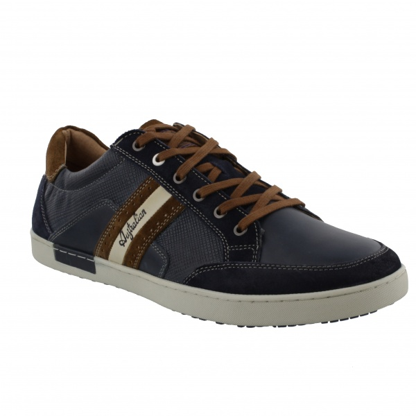 Australian Footwear Lombardo Leather Blue/Tan