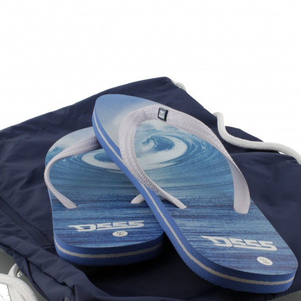 HOLIDAY SET - One pair of D555 Maui Flip-flops & Converse Cinch Bag in Blue