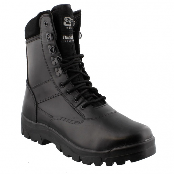 Grafters Top Gun Combat Boot Black