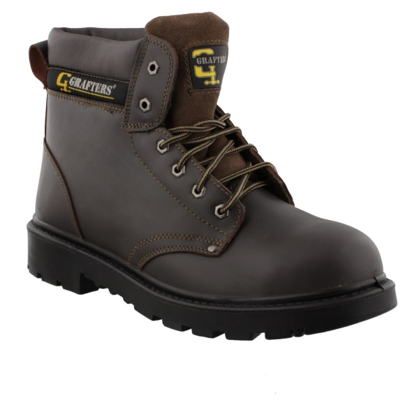 Grafters Apprentice Safety Boot Brown