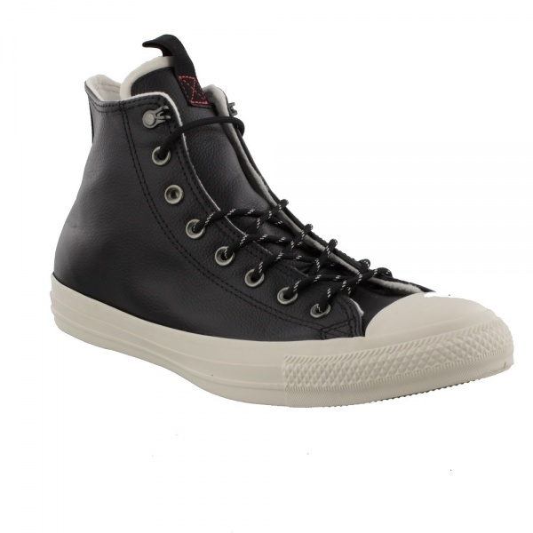 Chuck Taylor All Star Leather High Top  Black/Driftwood/Driftwood 162386C