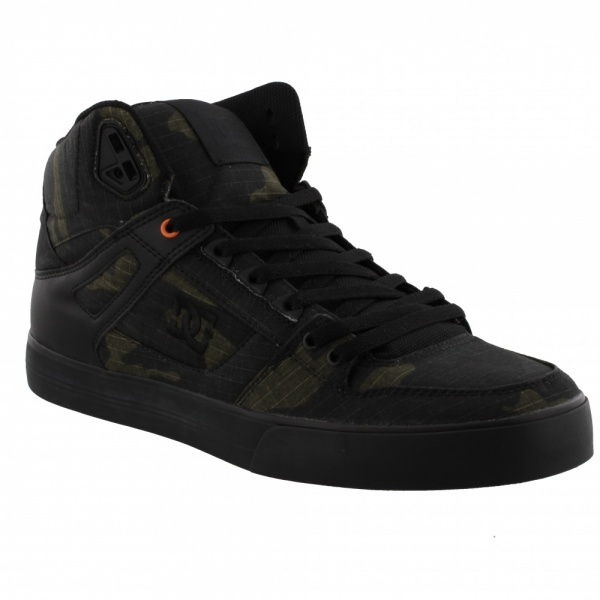 DC Shoes PURE HIGH-TOP WC TX SE 3RO CAMO RUSSET ORANGE