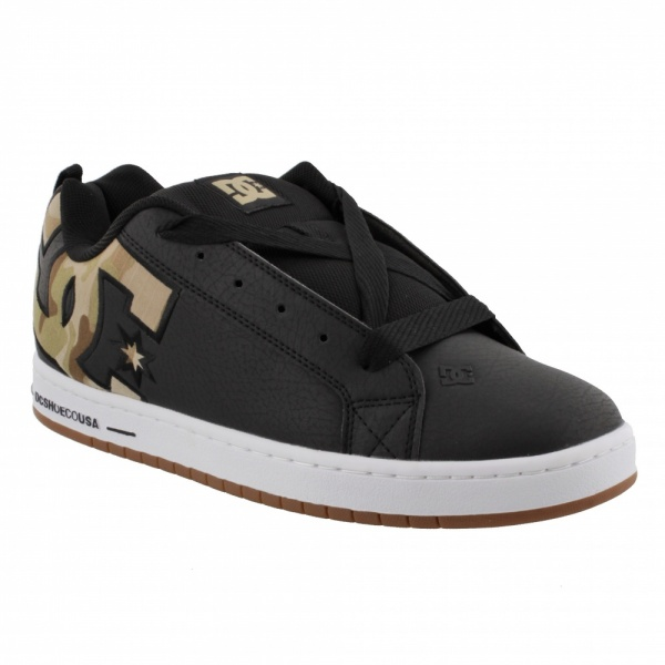 DC SHOES COURT GRAFFIK SE BLM BLACK CAMO