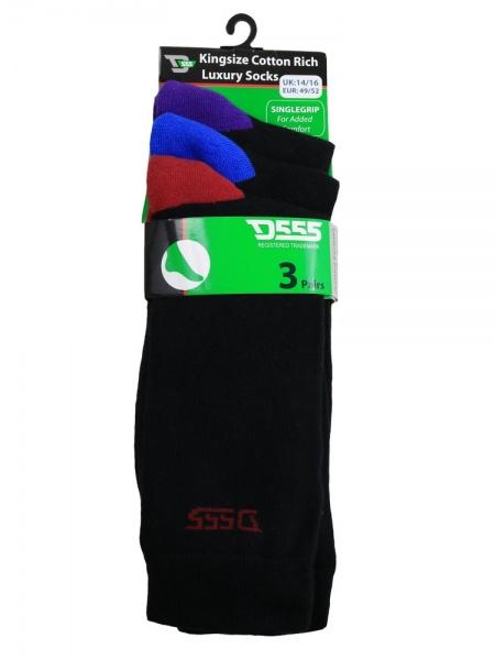 D555 Kingsize Phoenix Cotton Rich Luxury Socks
