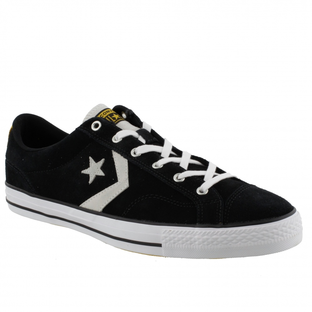 CONVERSE STAR PLAYER - OX - BLACK/WHITE/UNIVERSITY GOLD