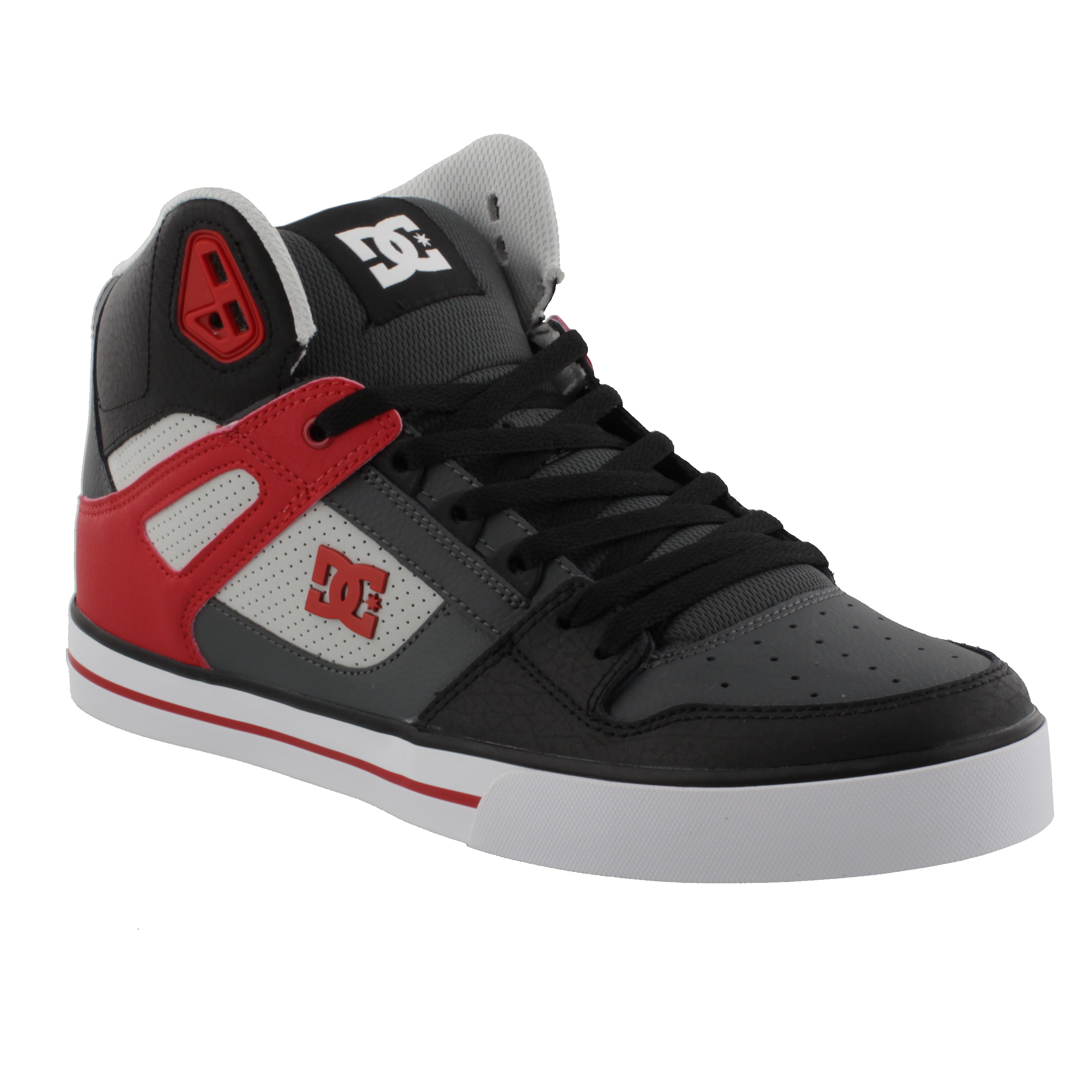 DC Shoes PURE HIGH-TOP WC GRF GREY/RED