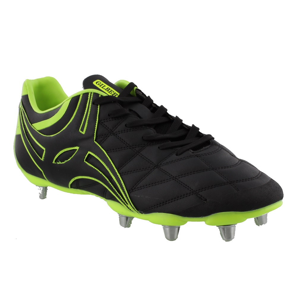 Gilbert SIDESTEP X9 RUGBY BOOTS NEON