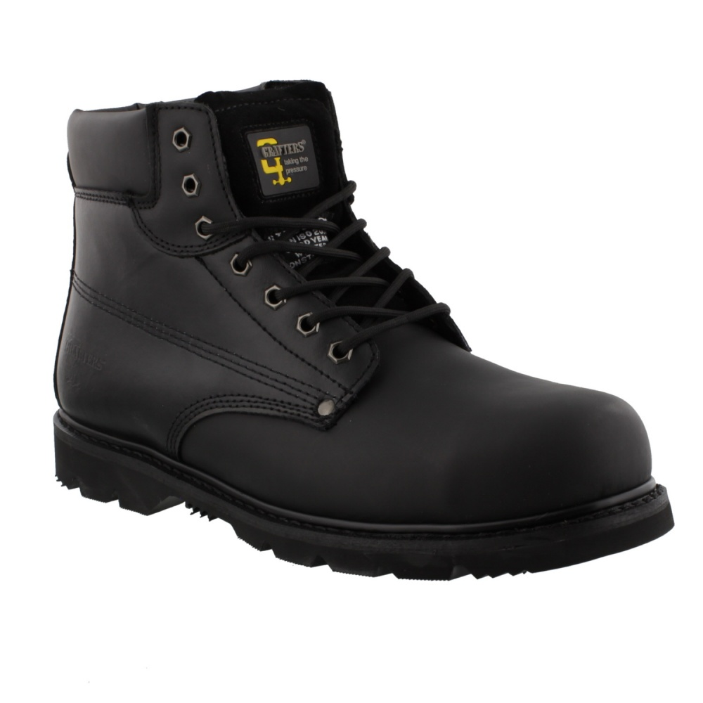 Grafters M 124A Padded Safety Boot Black