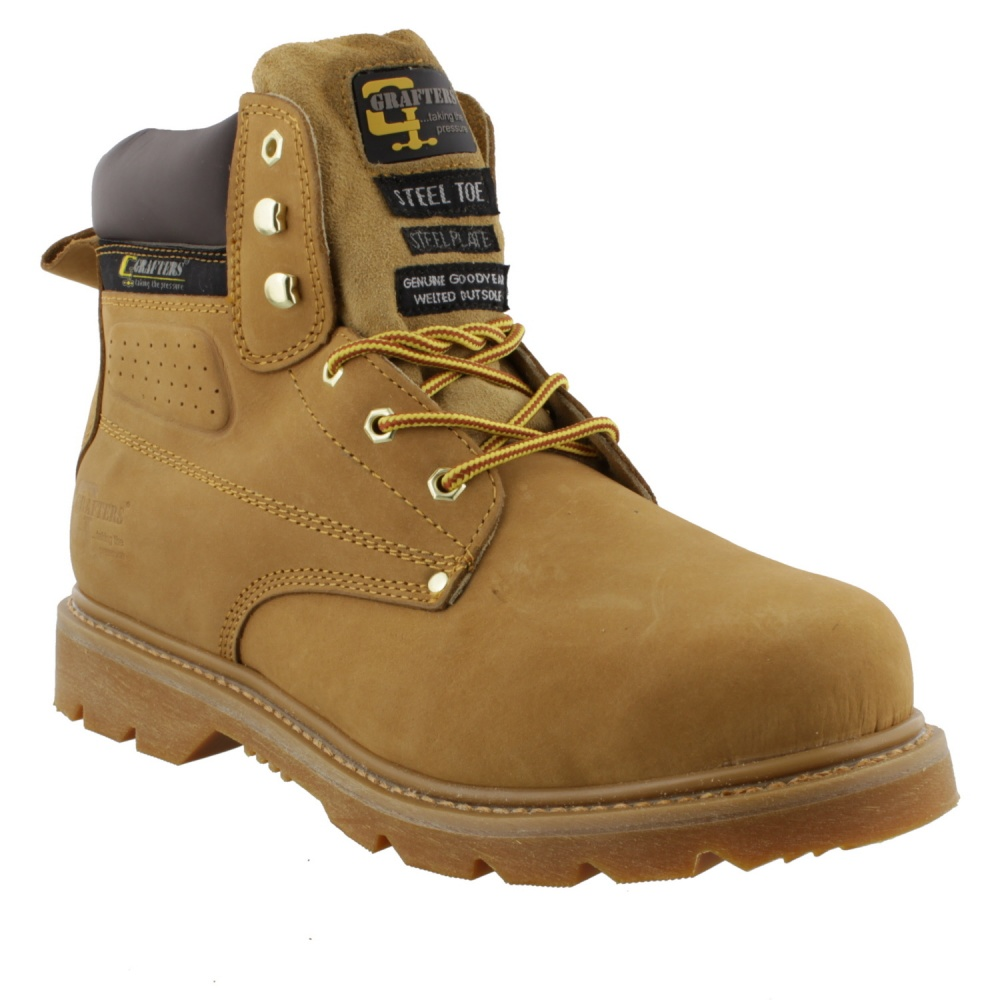 Grafters M538N Gladiator Safety Boot Honey Brown