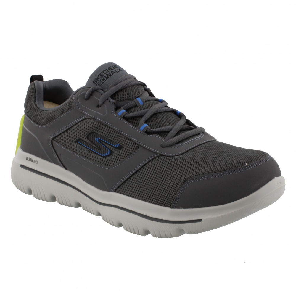 SKECHERS GOWALK EVOLUTION ULTRA™ - ENHANCE CHARCOAL/BLUE