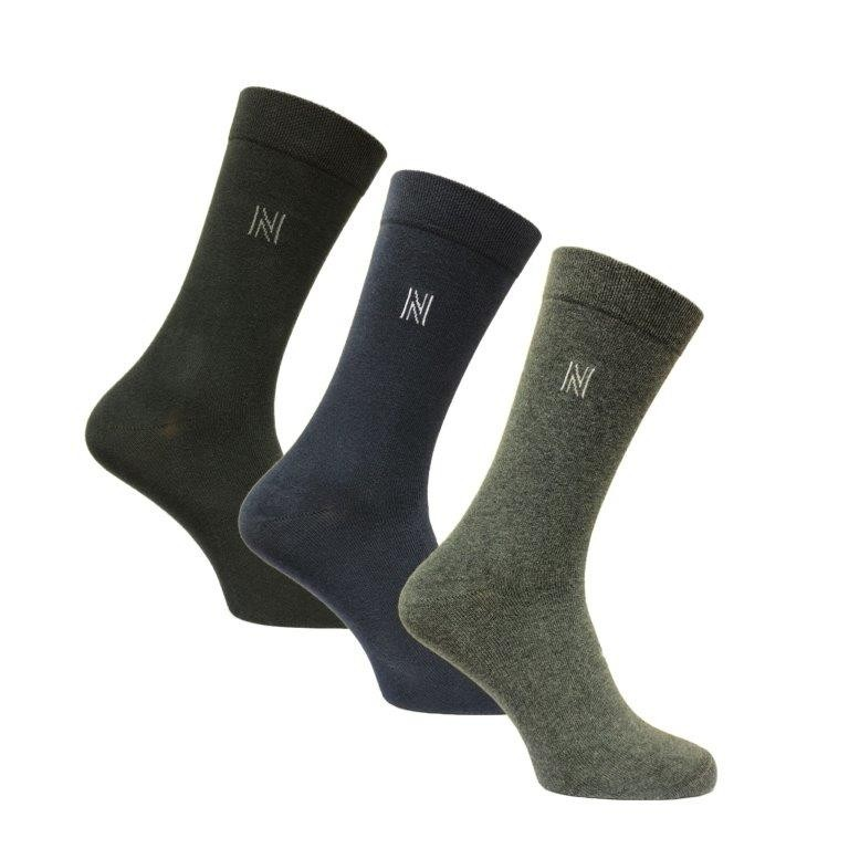 Norfolk Socks Brody 3 Pair Pack Navy