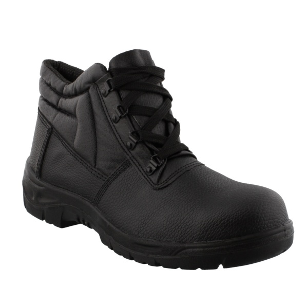 Grafters 5501 Mid-Cut Safety Boot Black